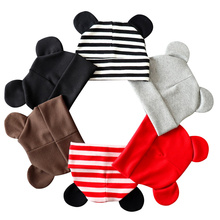 Mouse Ears Cute Baby Beanie Fashion Cotton Toddler Hat Boys Girls Cartoon Spring Autumn 6-18 M Clothing