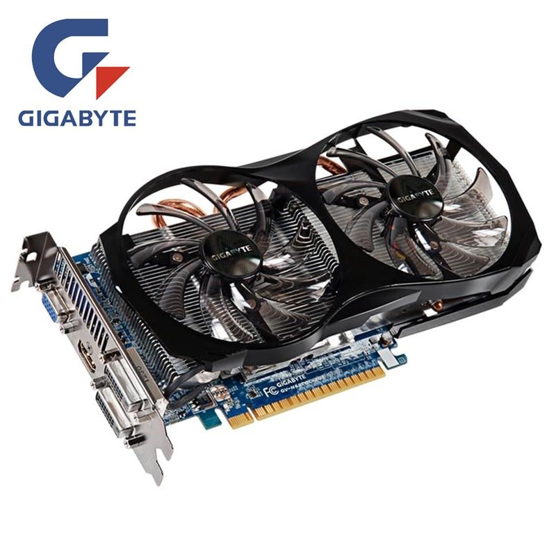 Placa de vídeo gigabyte gtx650ti 2 gb 128bit gddr5 gpu placas gráficas para nvidia original geforce gtx 650 ti 2gd5 vga GV-N65TOC-2GI
