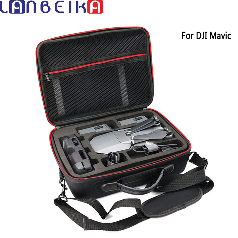 LANBEIKA Professional Hardshell Shoulder Waterproof Drone Bag Handbag EVA Nylon Portable Case Box For DJI Mavic Pro Platinum