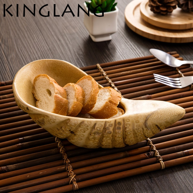 High quality Original natural roots Modern wooden plate fruit plate household dried fruit melon seeds candy tray shell plate