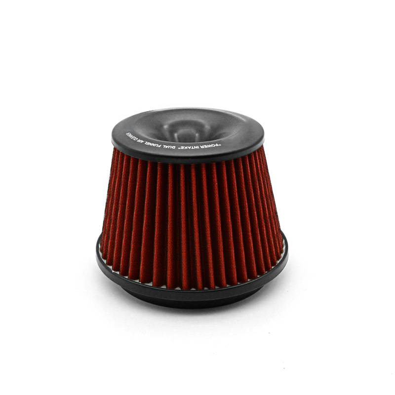 Universal Car Vehicle Intake Air Filter 75mm Dual Funnel Adapter Air Cleaner Protect Your Piston With Logo