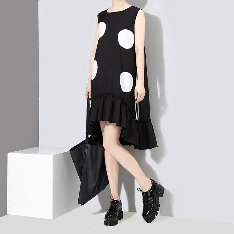 2018 estilo coreano mujeres del verano vestido negro sol grandes - Ropa de mujer - foto 3