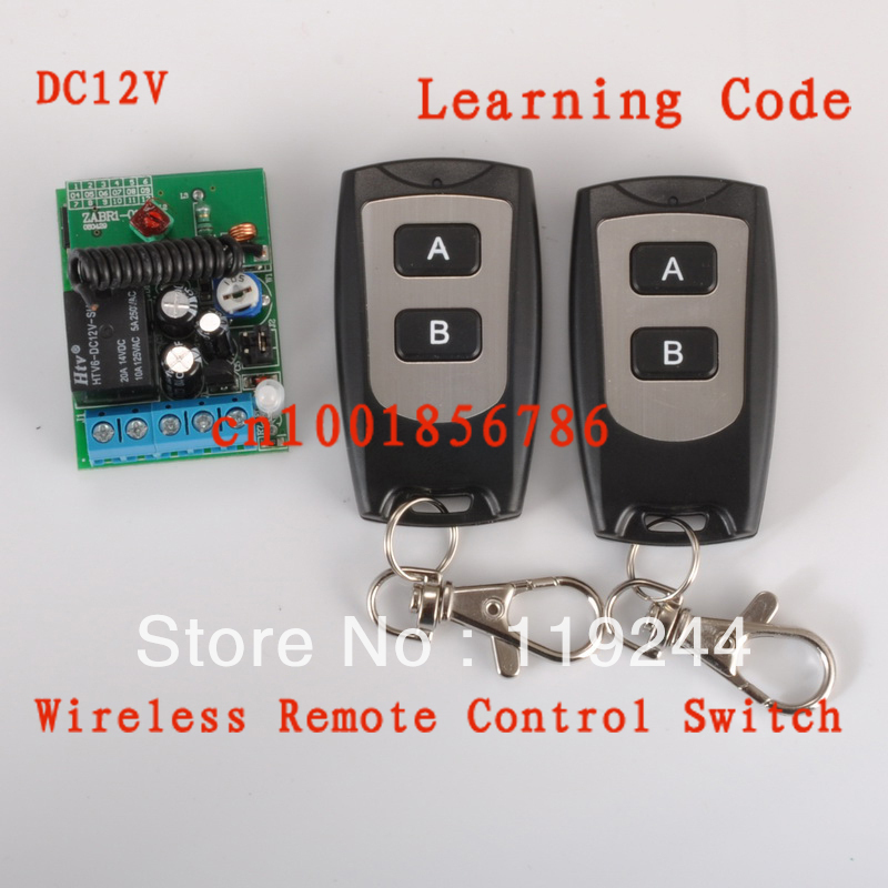 315/433 12V Door Access/Entery Guard Gateway Wireless Remote Control Switch Momentary Time Delay Relay Switch 3-12S Adjustable