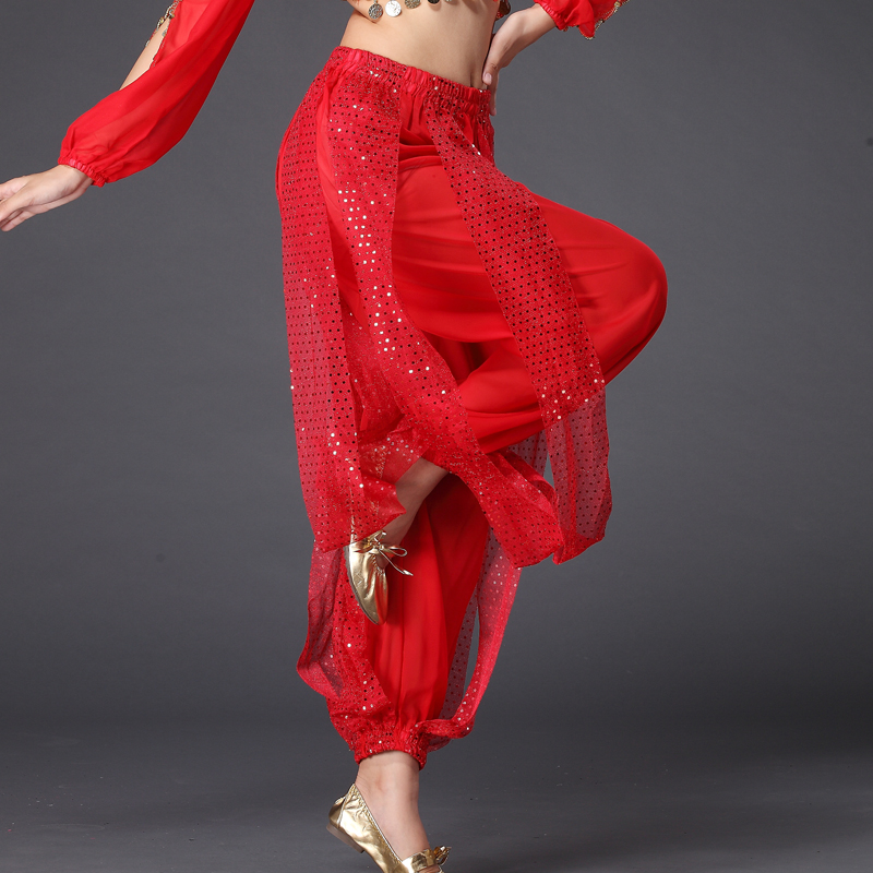 ✔  Yoga Belly Dance Костюм Сияющие Блестки Фонарь Длинные Штаны 13 цветов ①