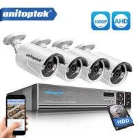 4CH 1080 P AHD DVR система видеонаблюдения с 4 шт. 2000TVL 2MP AHD камера s открытый дом безопасности видеонаблюдения камера комплект