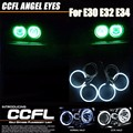 Free Shipping Xenon white CCFL Angel eye rings for BMW E30 E32 E34 Car styling headlight 2*120mm+2*120mm