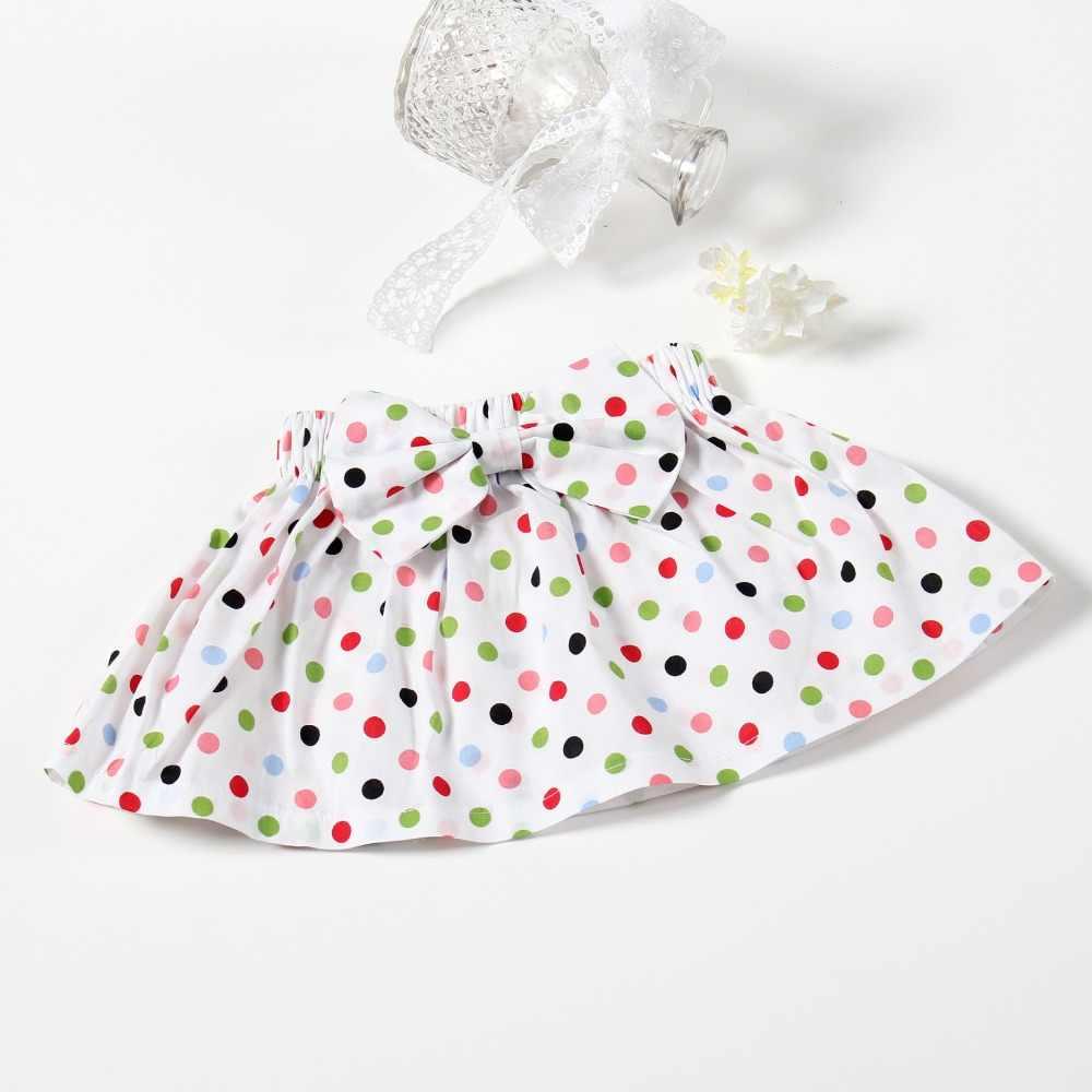 Faldas de verano para niñas falda de Bebé Ropa para embarazadas madre para niños Falda corta de algodón estampado de lunares faldas para niños