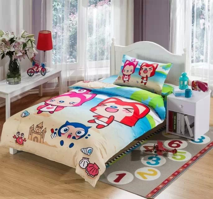 cartoon beach kids bedding sets sea boys girls twin size doona quilt duvet cover 100 cotton bed sheets bedspread bedroom linen bedding sets twin kids
