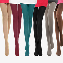 120D Tights Women Spring Autumn Sexy Solid Color Collant Femme Pantyhose Slim Warm Female Elastic Nylon