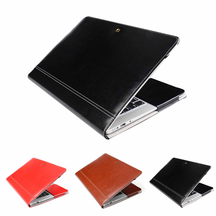 Business Style Vintage PU Leather Skin Sleeve Case Cover For Apple Macbook Air Pro Retina 13