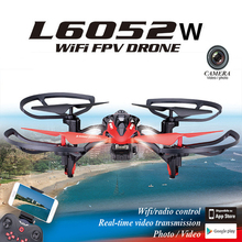L6052W wifi fpv rc drone with HD Camera 2.4G 4CH 6 Axis Gyro RC Quadcopter with led light Realtime Drone Remote Control Toy gift