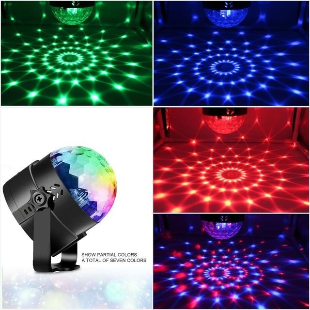 Big Promo Mini Laser Stage Light LED Dmx Dj Disco lights Effect Party Lamp Lighting For Home Christmas KTV Music Sound Activate Magic Ball
