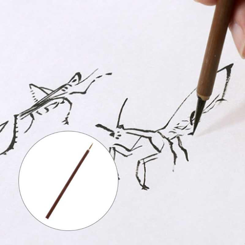 1/6/10 piezas acuarela cepillo pelo de lobo acuarela pincel de artista pintura pinceles de cabeza redonda de la línea de conexión pluma representan pluma