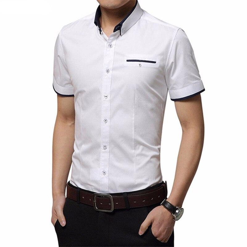 2017 Hot hochwertige Herren Kurzarmhemd Slim Größe - Herrenbekleidung