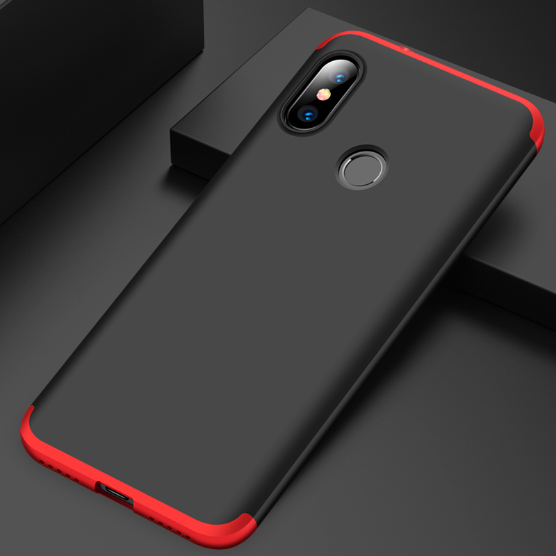 360 Full Protection Case For Xiaomi Mi A2 Lite Case Luxury Hard PC 3 In 1 Back Cover For Xiaomi Redmi 6 Pro Armor Coque