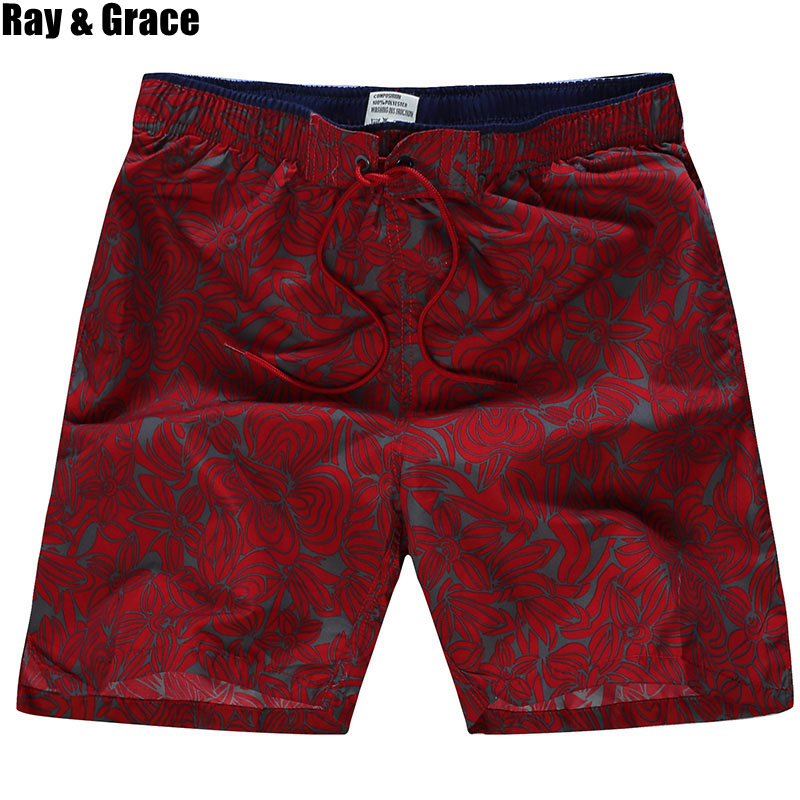 RAY GRACE Men's Summer Swim   Shorts   Quick Dry Beach   Board     Shorts   Swimming   Short   Pants Swimsuits Running Sports Surfing   Shorts
