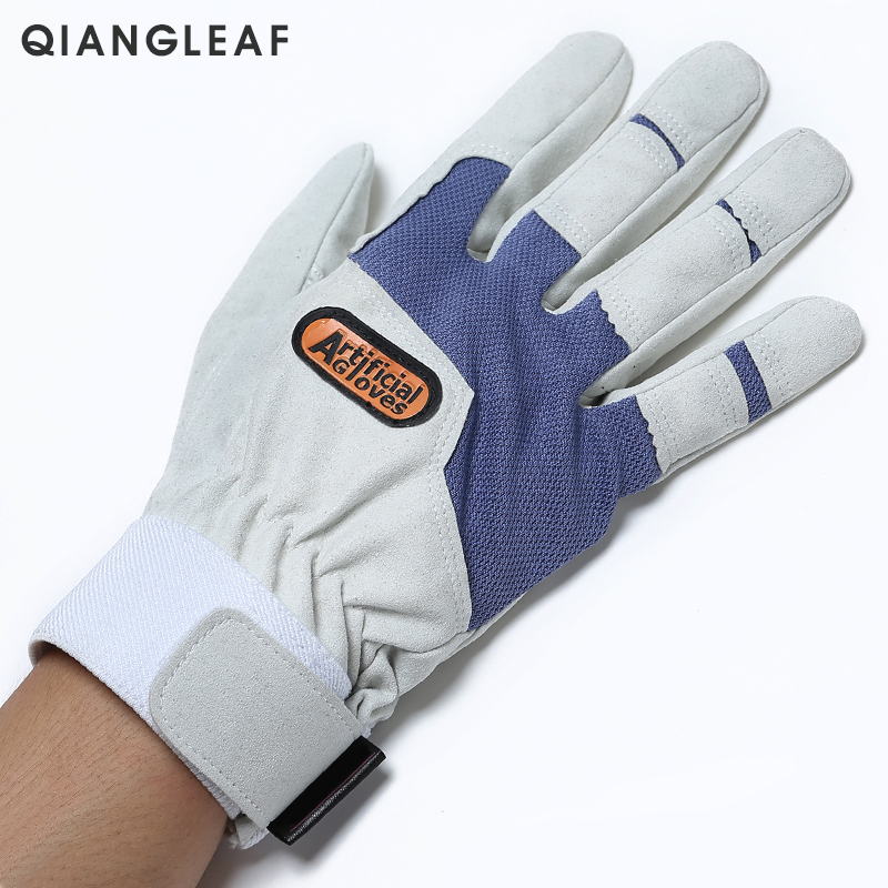 Image 3 - QIANGLEAF Work gloves gardening glove new design microfiber security gloves hot sale sport gloves 6470-in Safety Gloves from Security & Protection