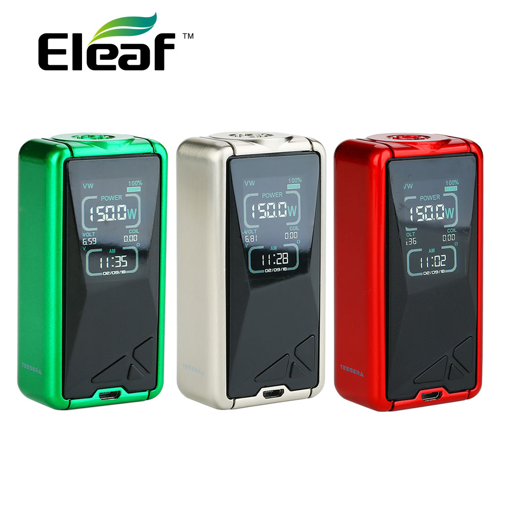 D'origine Eleaf Tessera 150W TC Box MOD w/3400 mAh batterie intégrée et 150W sortie maximale et écran LCD 1.45 pouces Vs Luxe Mod/glisser 2-in Batteries de cigarettes électroniques from Electronique    1