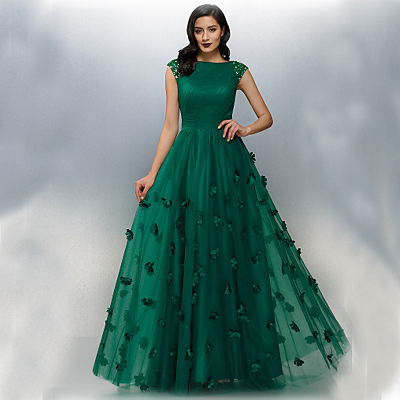 Buy zuhair muard dark green sexy long for Where to buy a nice dress for a wedding