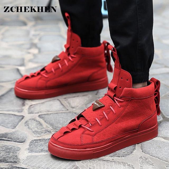 Весна мужской Kanye Star High-top Обувь GZ нубук Запад Сапоги и ботинки для девочек дышащие Повседневная дышащая обувь мужская обувь #65