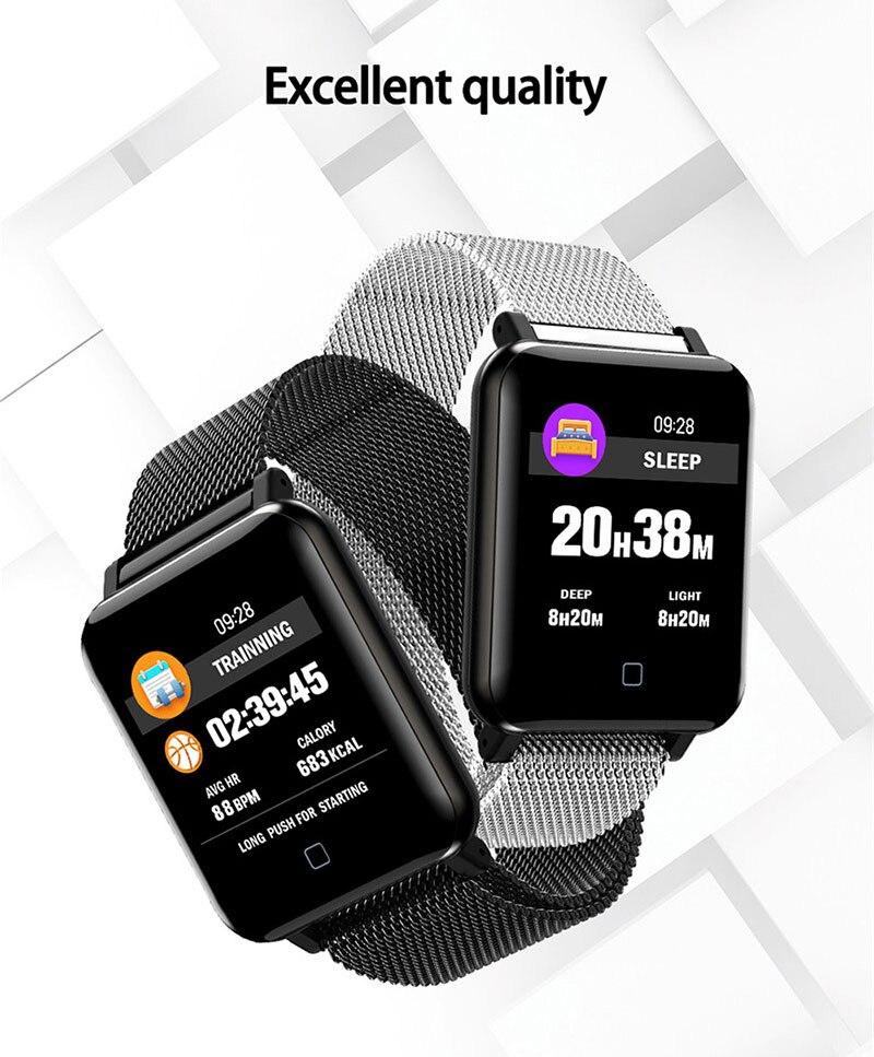 VERYFiTEK M19 Smart Watch Blood Pressure Heart Rate Monitor Women Men Clock Sport Fitness Tracker Smartwatch For Android IOS (2)