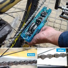 Portable Motorcycle Bicycle Chain Cleaner Bike Clean Brushes Scrubber Wash Tool Mountain Cycling Cleaning Tools