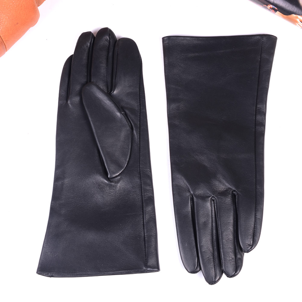 """30cm 12"""" New Men's Real Leather Double Sides Leather Unlined Middle long Gloves Customizable motocycle Winter Warm gloves"""
