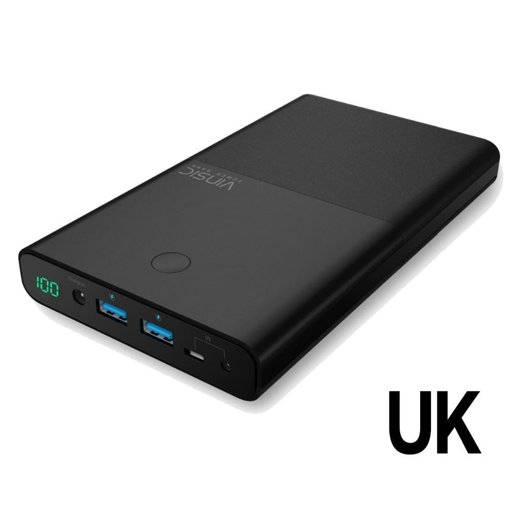 30000 mAh batterie externe double USB externe léger, taille compacte chargeur de batterie pour ordinateurs portables portables généraux