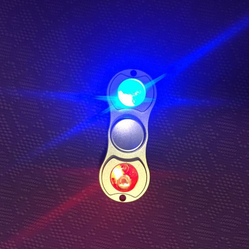 100Pcs Lot Tri Spinner Fidget Spinner Flashing Metal EDC Hand Spinner Fingertip Fidget Toys For Adult