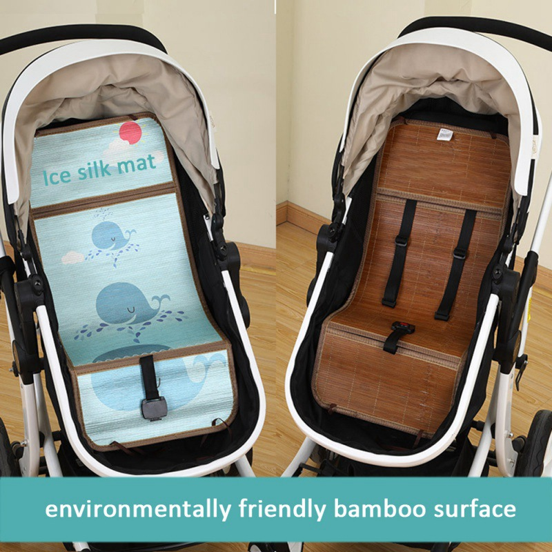 Summer Cartoon Pattern Sleeping Mat Breathable Stroller Seat Mat Cool Liner Cushion Baby Kid Stroller Accessories