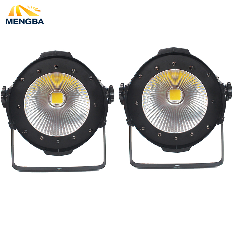 2pcs/lot COB 100W LED Par Light High Power Aluminium DJ DMX Led Beam Wash Strobe Effect Stage Lighting DJ /Bar /Party light led par cob 200w only violet strobe stage light high power dmx512 light aluminium case stage lighting dj equipment