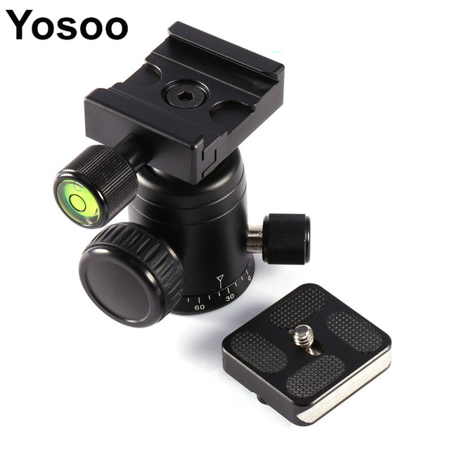 Camera Accessories 1/4 Inch Mounting Screw MYT-B Camera Ball Head With Quick Release Plate##