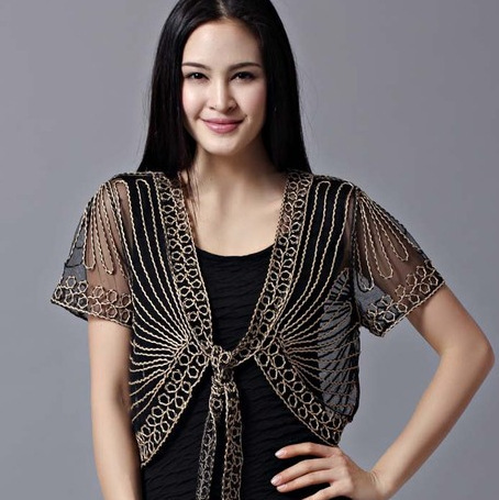 2019 High Quality Summer Fashion Womens Clothing Wild Perspective Small Shawl Chiffon Lace Cardigan Gauze Lacing Boleros 802E 30
