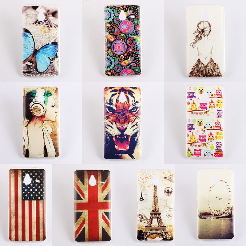 10 Patterns Painted Case Cover for Microsoft Nokia Lumia 640XL TPU Back Cover For Nokia Lumia 640 xl Case Lumia 640xl Cover