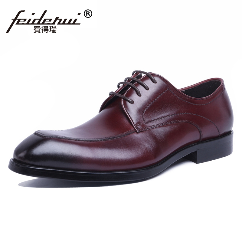 2018 New Arrival Man Formal Dress Derby Shoes Genuine Leather Round Toe Lace up Handmade Men's British Designer Footwear JS142 eye massager eye mask electronic foldable rechargeable with pressure vbration heat music for dry eye relax