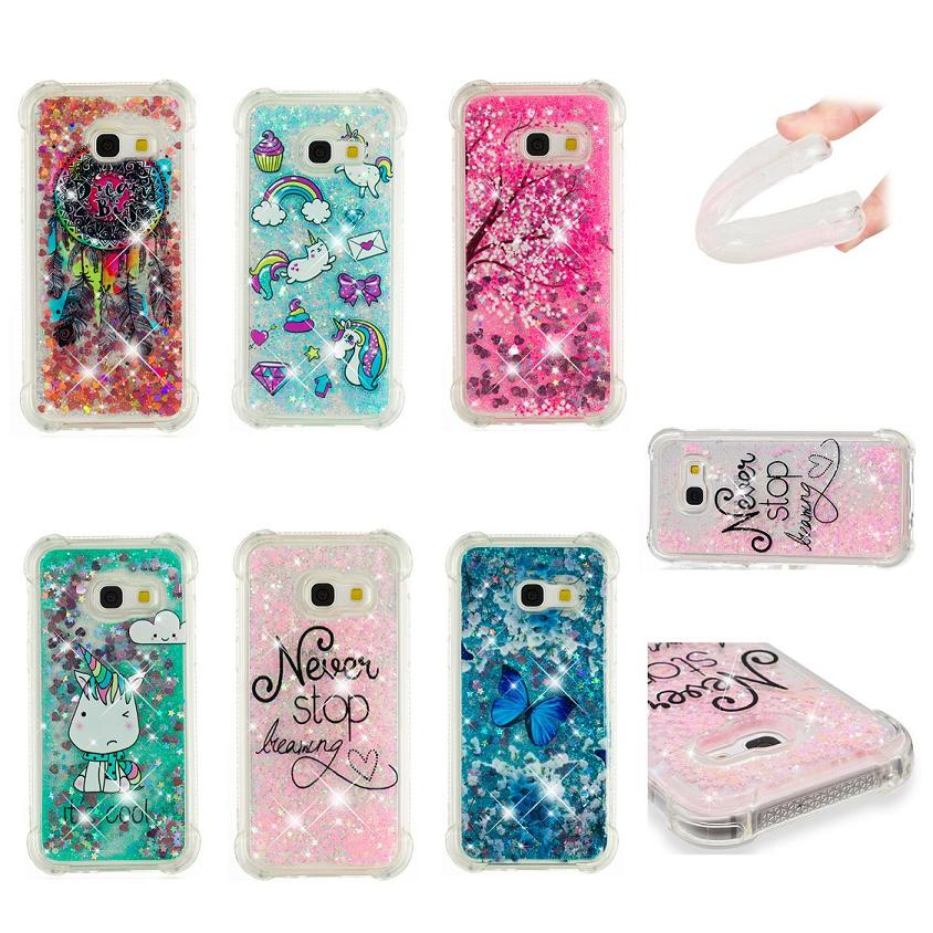 2019 New Style Luckbuy Liquid Glitter Sand Star Mobile Phone Cases For Samsung Galaxy A3 A5 A7 2017 Version Heart Dynamic Plastic Back Fundas Phone Bags & Cases Half-wrapped Case