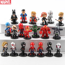 Hasbro Marvel 8&12pcs Raytheon Spider-Man Iron Man DC Justice League Batman Superman Q Edition Decoration Hand Collection