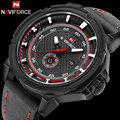 Homens esporte relógios pulseira de couro relógio de quartzo homens calendário de moda marca naviforce 30 m à prova d' água relógios de pulso relogio masculino