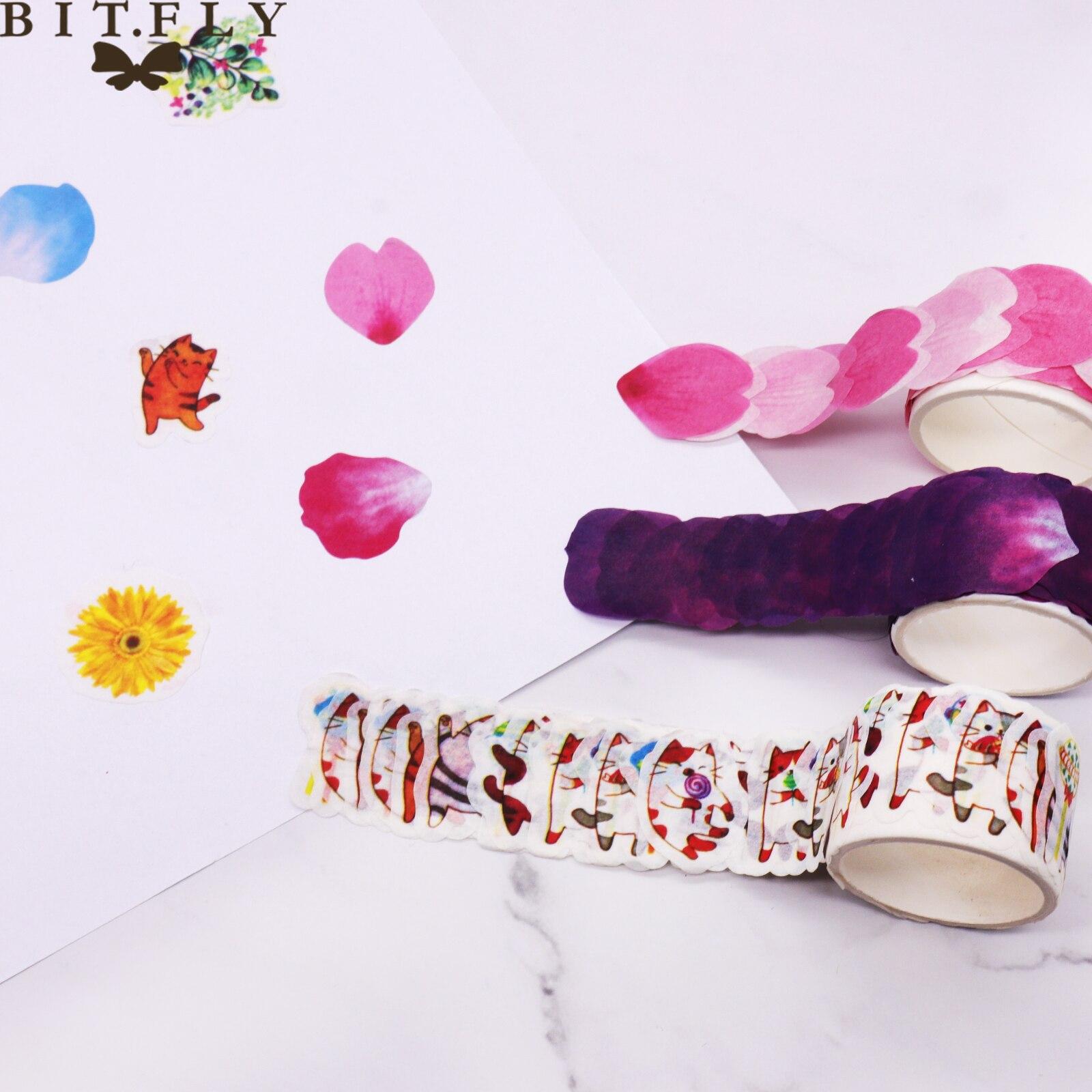 Flower Petals Washi Tape Decorative Masking Tape Fragrance Sakura Washi Tape Scrapbooking Diary Paper Stickers DIY Accessories
