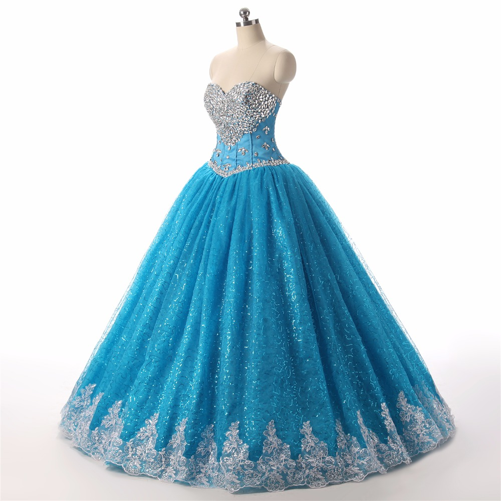 Modest Ball Gown Prom Dresses 2018 Robe De Bal Sweetheart Plus Size ...