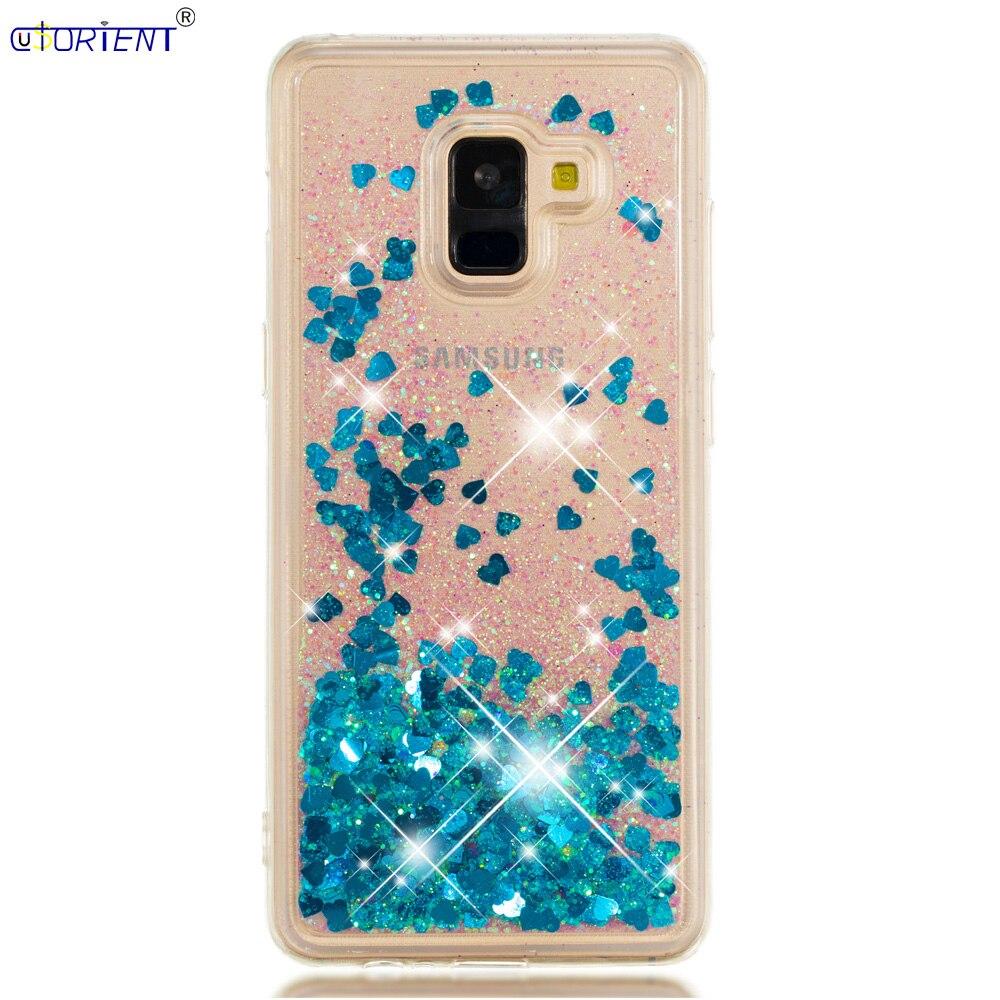 A730f/ds Sm-a730x Soft Silicone Bumper Cover A8 Plus 2018 Bling Glitter Dynamic Liquid Quicksand Case Sm For Samsung Galaxy A8