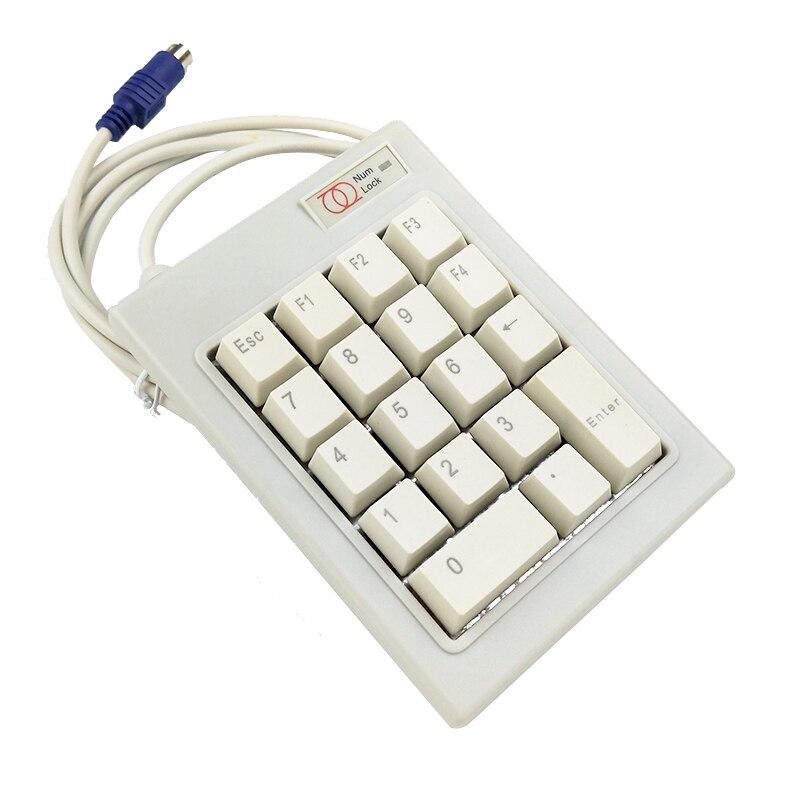 18 Keys PS/2 ESC Key Wired Mechanical Password Finance Number Numberic Keypad Keyboard F1 F2 F3 F4 DELETE KEY аксессуар катушка marsmd goliaf для f2 f4