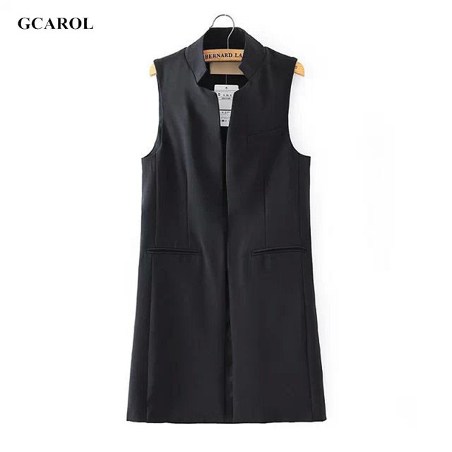 Women New Arrival Long Vest Jacket Casual Fashion Office Wear Open Stitch Waistcoat Outwear For  Summer Spring Autumn
