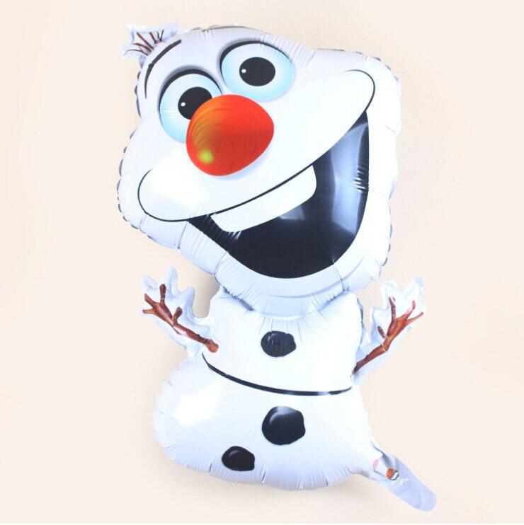 72*44 см Снеговик Олаф Надувные Замороженные Фольги Воздушный Шар, мультфильм надувной Шар, партия/День Рождения Новый год Украшение