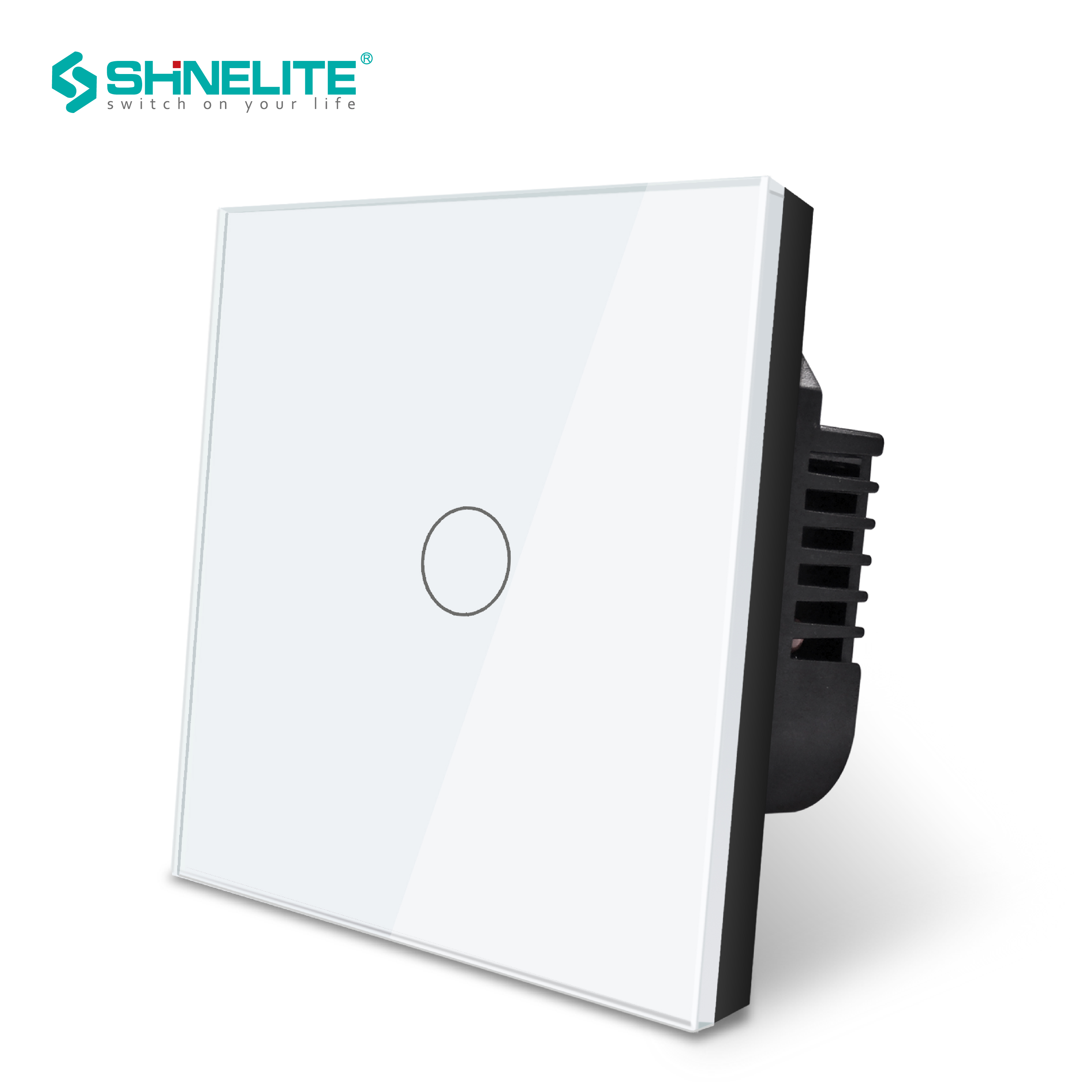 Us 9 6 40 Off Shinelite Uk Smart Wall Touch Light Switch 1 Gang 1way Model Sensor Electric For Lamp Interruptor In