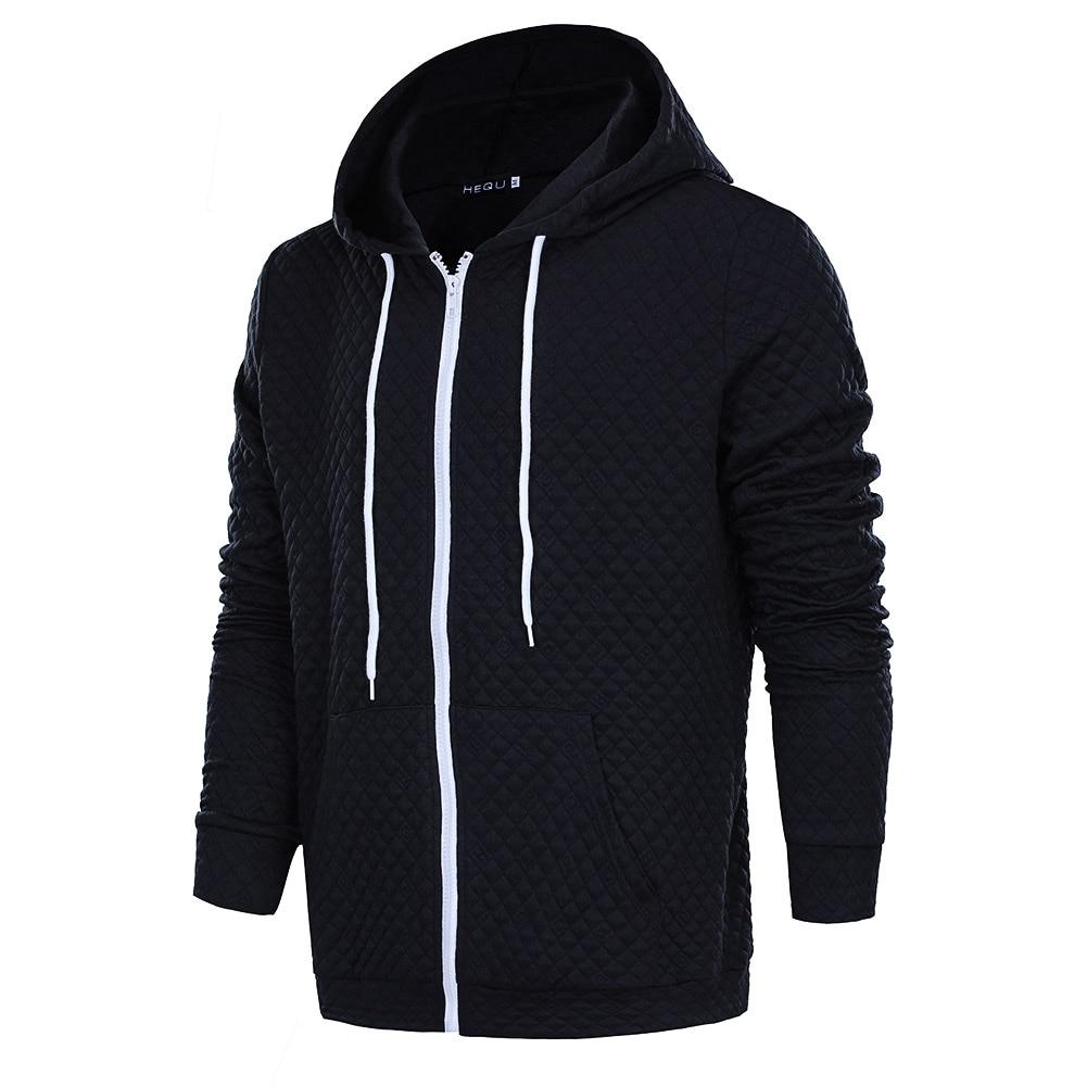 Fashion Brand Hoodies Men Casual Sportswear Man Hoody Zipper Long-sleeved Pockets Sweatshirt Men 3 Colors Slim Fit Men Hoodie