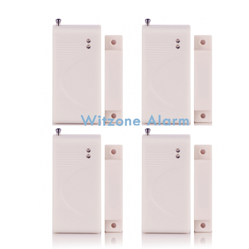 4pcs/lot 433/315MHz Wireless Door Window Sensor Magnetic Contact Detector for WIFI Alarm G90B and KR-8218G, G15,G18,G19,etc