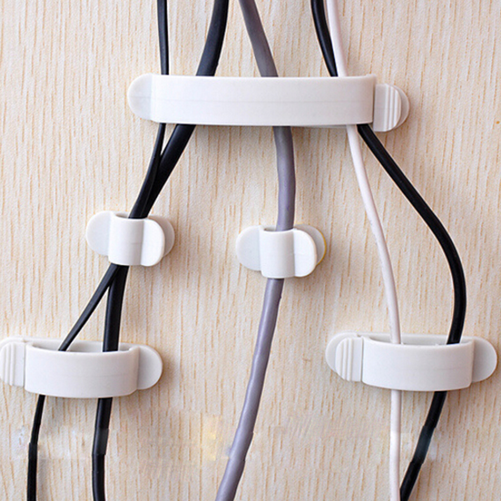 10pcs S/M/L Cord Clips Adhesive Household Cable Holders Storage ...
