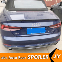 For Audi A5 Spoiler 2015 2018 Audi A5 COUPE TWO DOORS spoiler High Quality ABS Material Car Rear Wing Primer Color Rear Spoiler