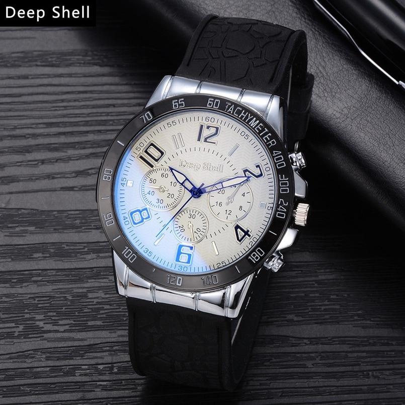 Deepshell New Men Watch Top Brand Luxury Leather Engraved Dial Military Watches Clock Male Erkek Kol Saati Relogios s12